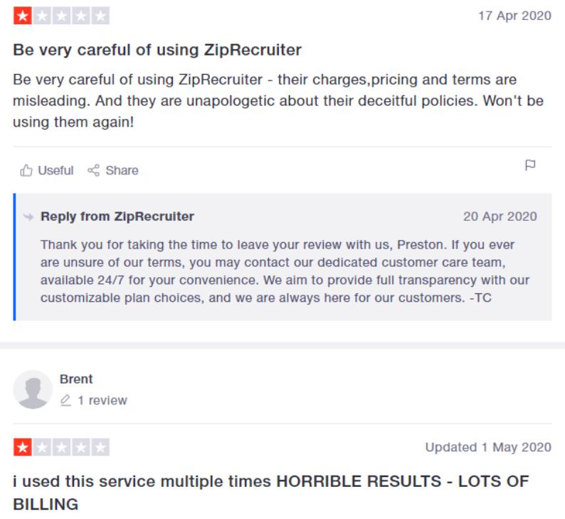 Ziprecruiter Reputation