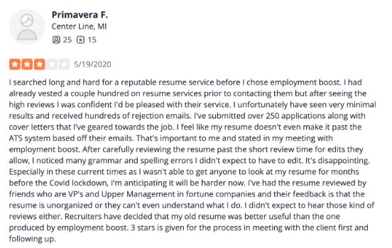 employmentboost com testimonials