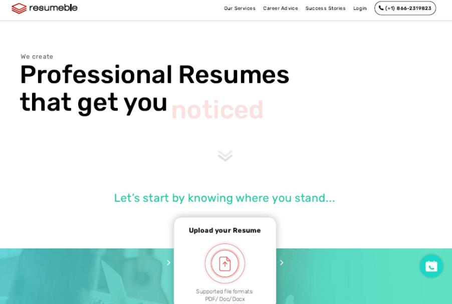 Resumeble Website