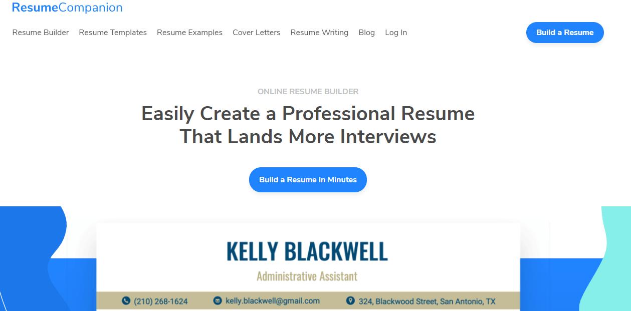Resumecompanion Website