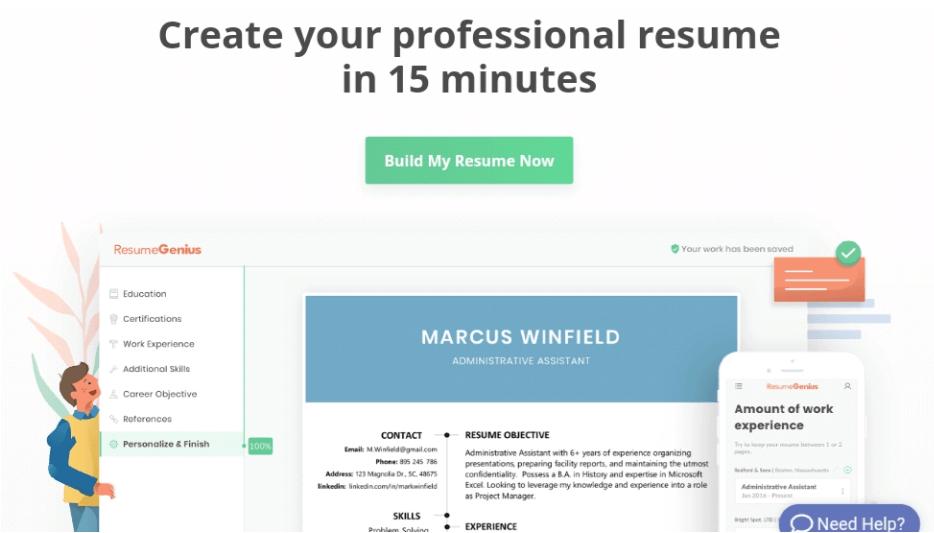 resumegenius com website